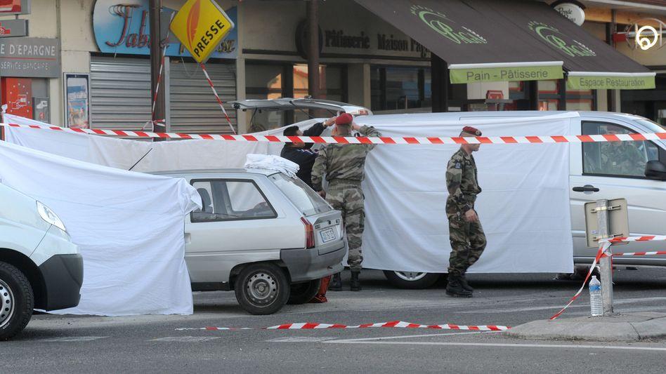 Tatort in Montauban: Hier feuerte der Attentäter auf drei Soldaten
