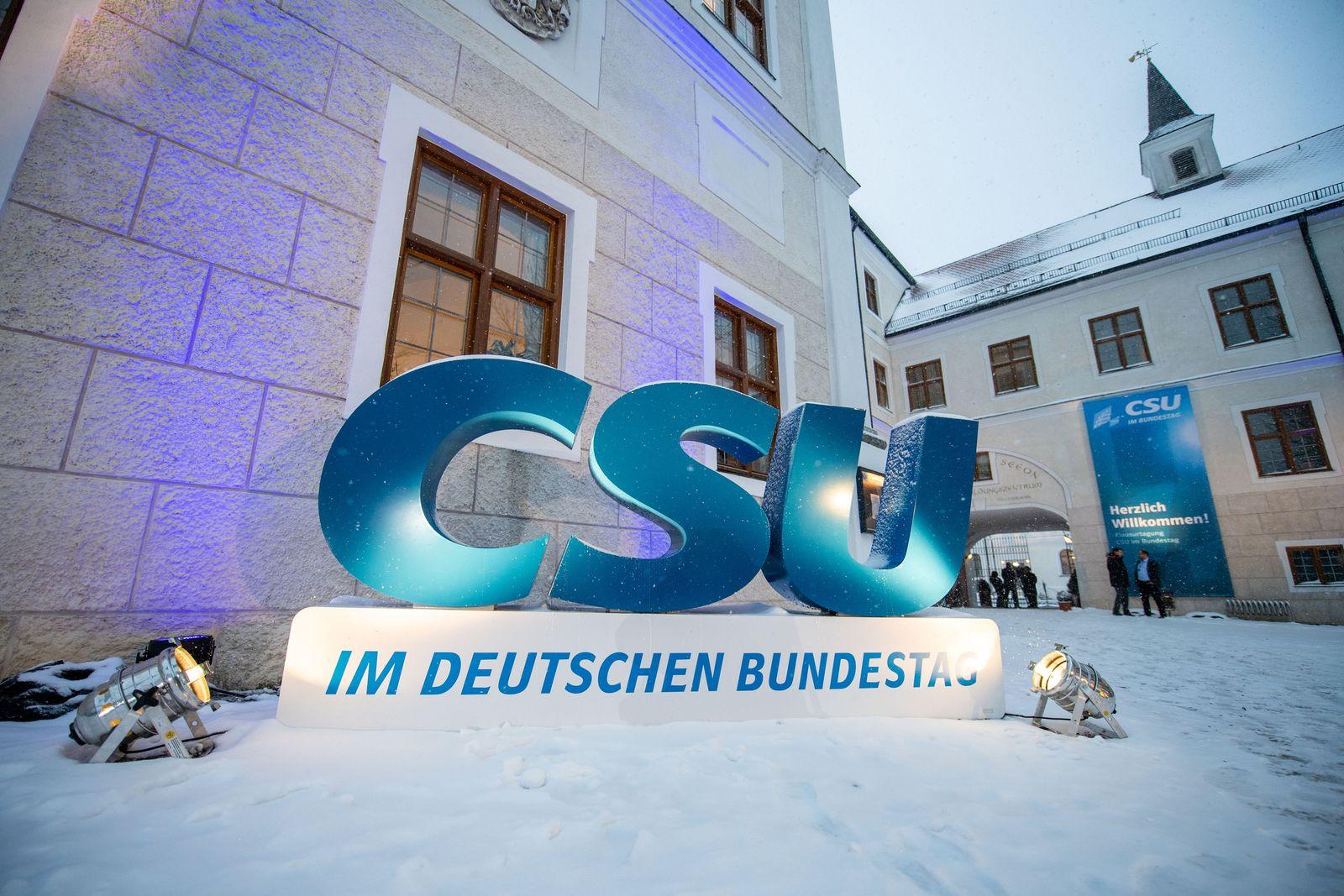 Winterklausur/ CSU-Landesgruppe/ Seeon
