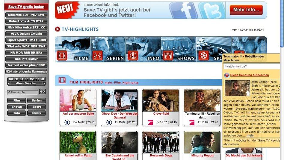 Online-Videorecorder Save.TV: Aufnahmen sind erlaubt, aber nur mit Genehmigung
