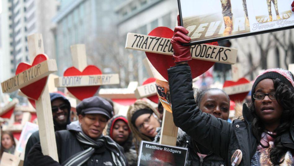 Silvester-Demo in Chicago gegen Gewalt