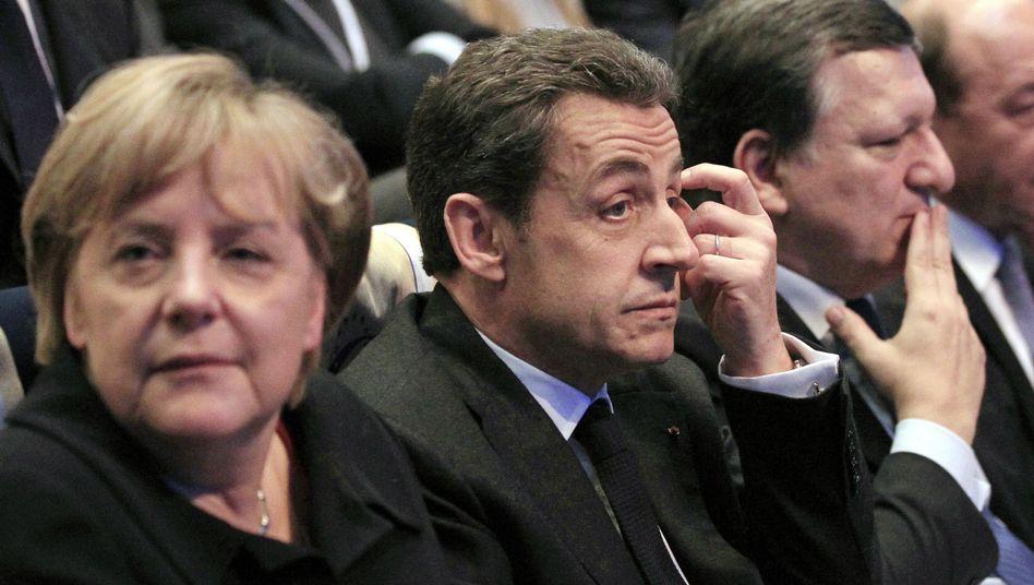 """EU-Politiker Merkel, Sarkozy, Barroso: Klage über eine """"Germanisierung Europas"""""""