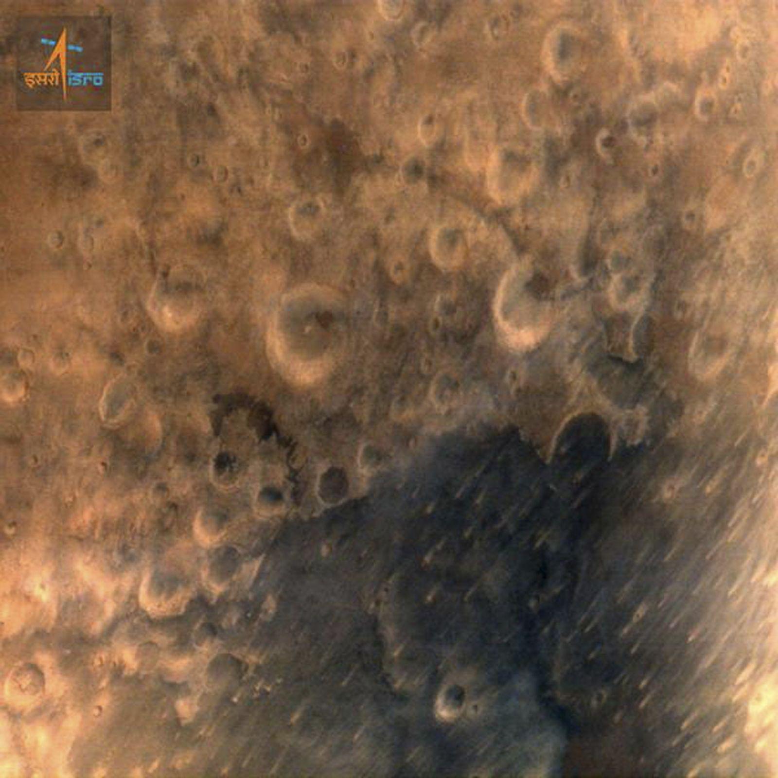 Mars Sonde Indien erstes Foto