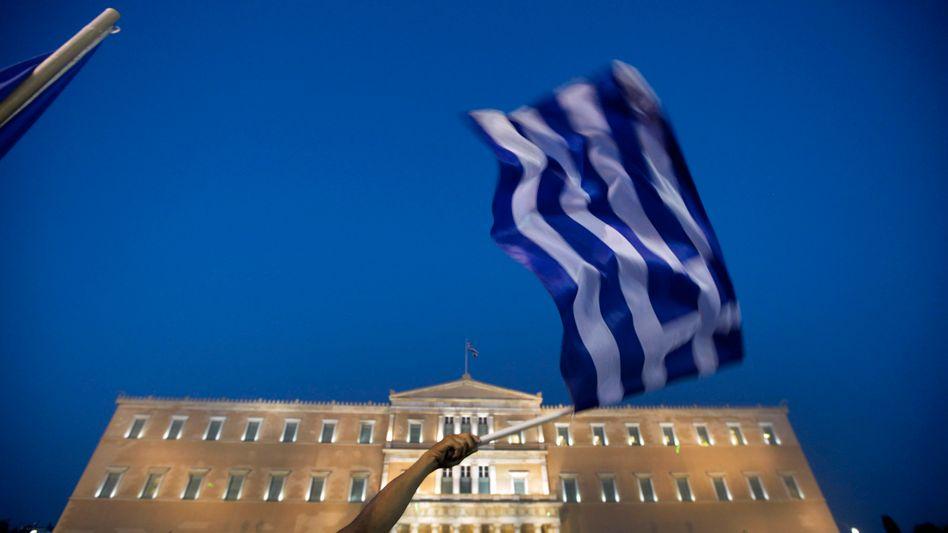 """Proteste vor dem griechischen Parlament: """"Irgendwann wird das System gesprengt"""""""