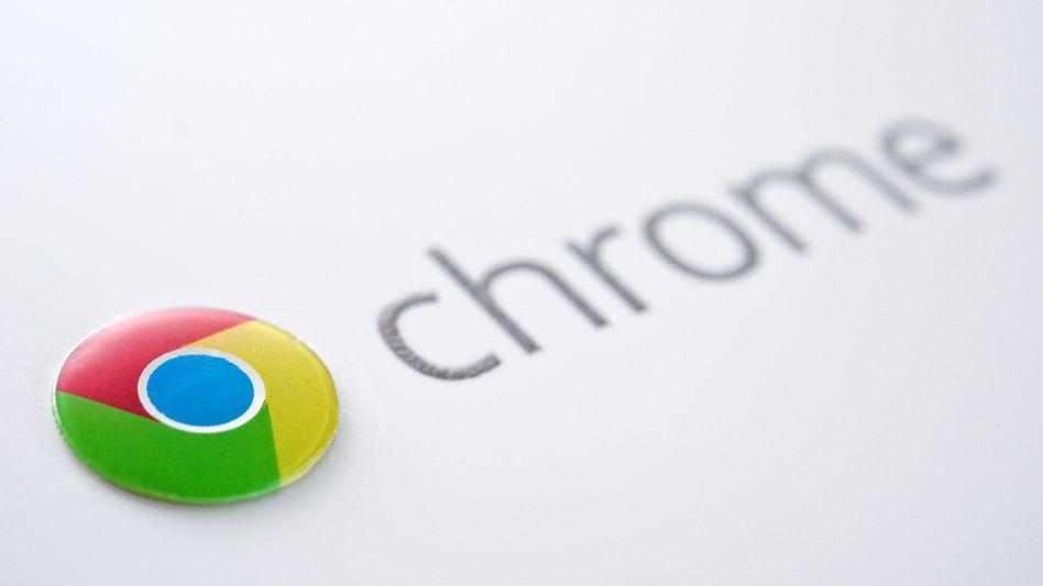 Das Logo des Google-Browsers Chrome. Normalerweise spielt das Programm Updates automatisch ein