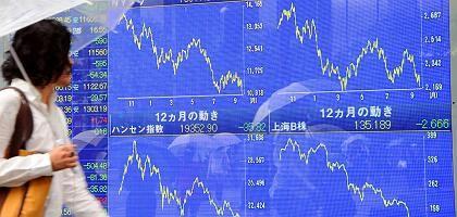 Kursrutsch an der Tokioter Börse: Schwere Verluste nach US-Krise