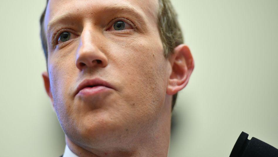 Facebook-Chef Mark Zuckerberg bei einer Anhörung im US-Repräsentantenhaus im Oktober 2019