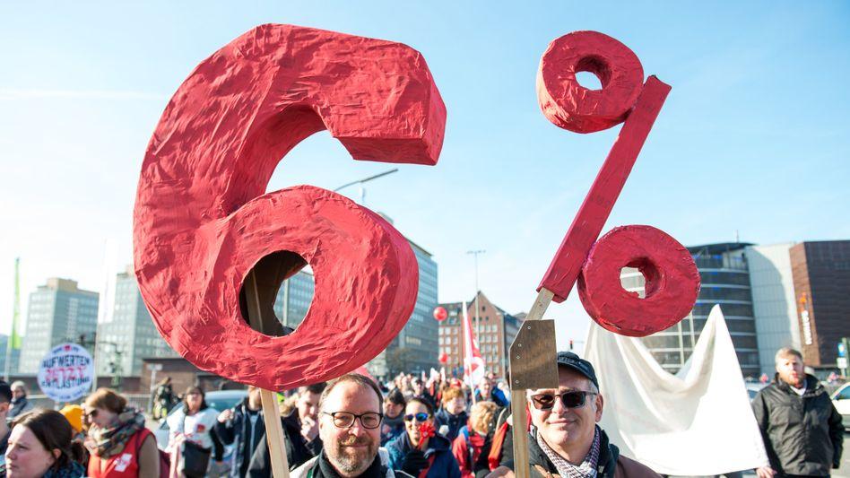 Demonstration des Öffentlichen Dienstes in Hamburg