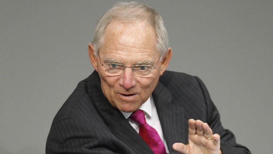 Finanzminister Schäuble: Erklärung zu Euro-Krise und Spanienrettung