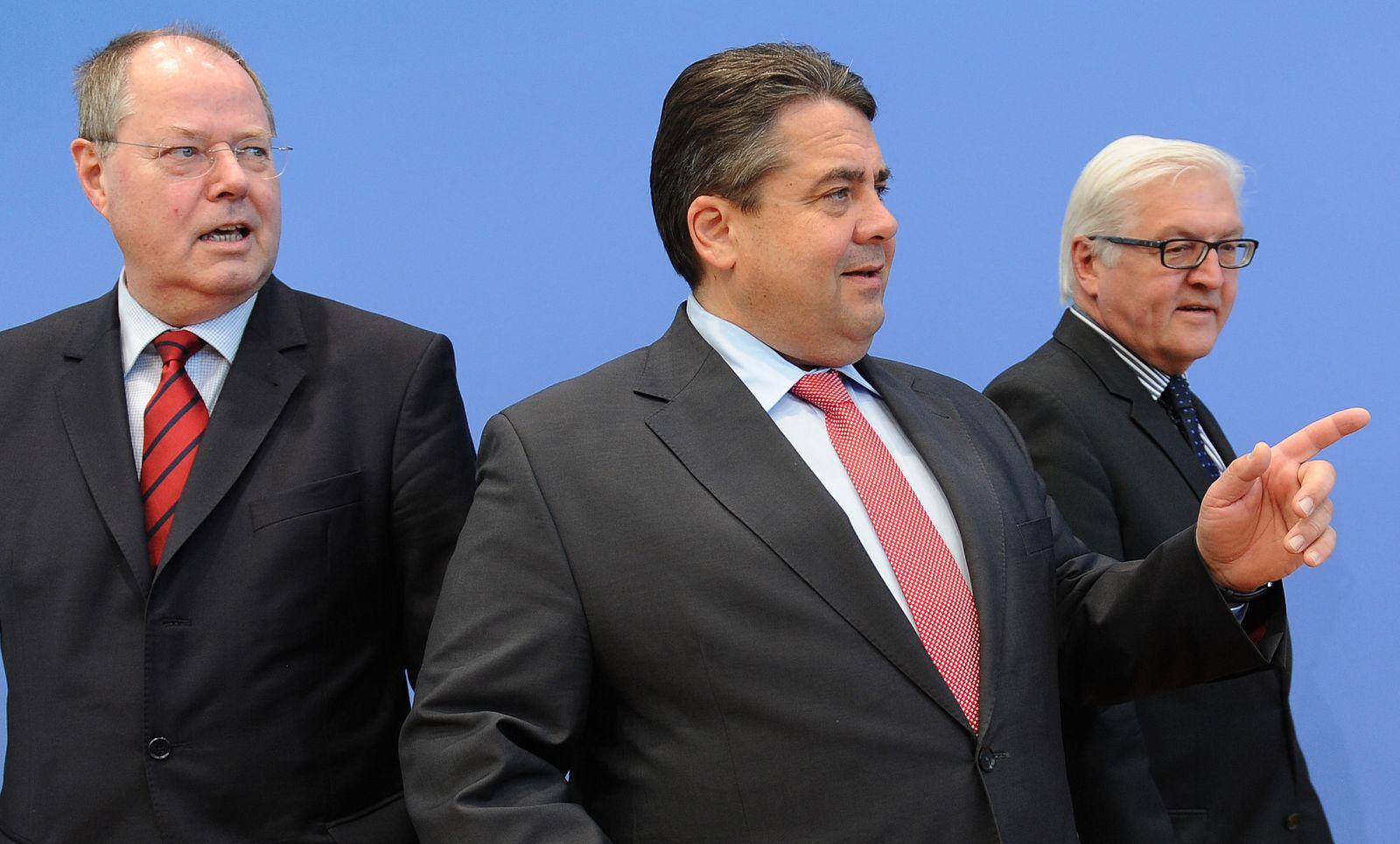 NICHT VERWENDEN Gabriel/ Steinmeier/ Steinbrueck