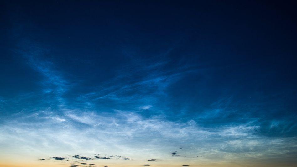 Leuchtende Nachtwolken Anfang Juli über Brandenburg
