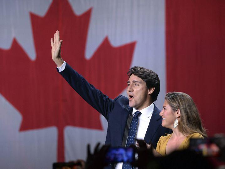 """Kanadas Premier Justin Trudeau mit Ehefrau Sophie Gregoire Trudeau: """"für eine progressive Agenda"""""""