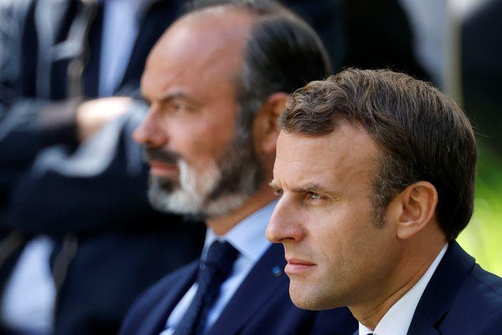 Präsident Emmanuel Macron und Premierminister Edouard Philippe