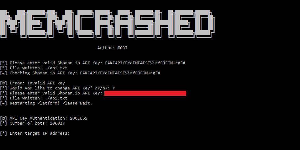 NUR ALS ZITAT Screenshot DDoS