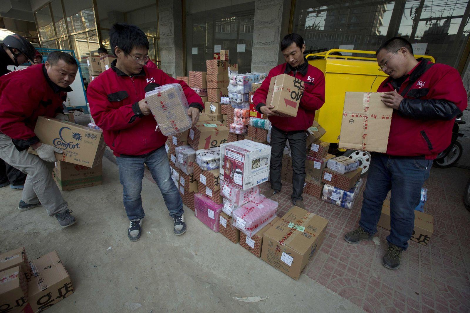 China wirtschaft paketboten
