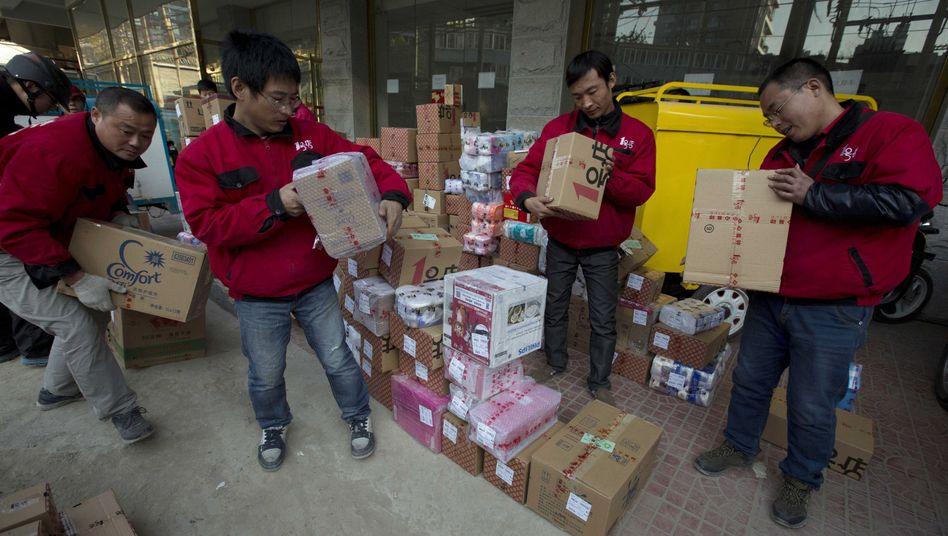 Boten in Peking mit Online-Bestellungen: Made in Germany als Statussymbol