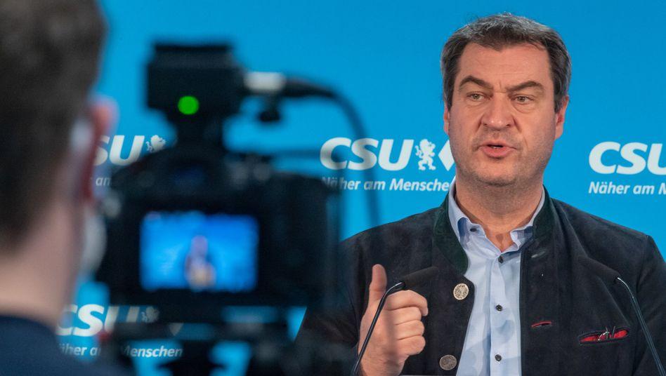 """Bayerns Ministerpräsident Markus Söder: Das Konzept """"Erleichterungen gegen Schutz"""" scheint zu funktionieren"""