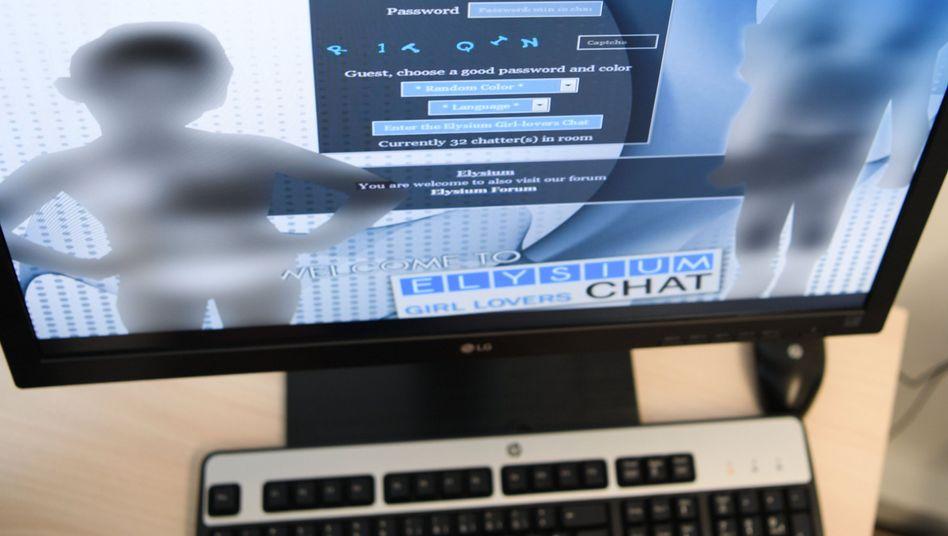 """Screenshot einer Login-Seite der von den Behörden ausgehobenen Kinderpornografie-Plattform """"Elysium"""" (Archivbild)"""