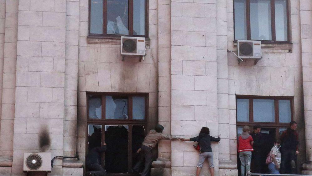 Brandstiftung: Trauer um die Opfer von Odessa