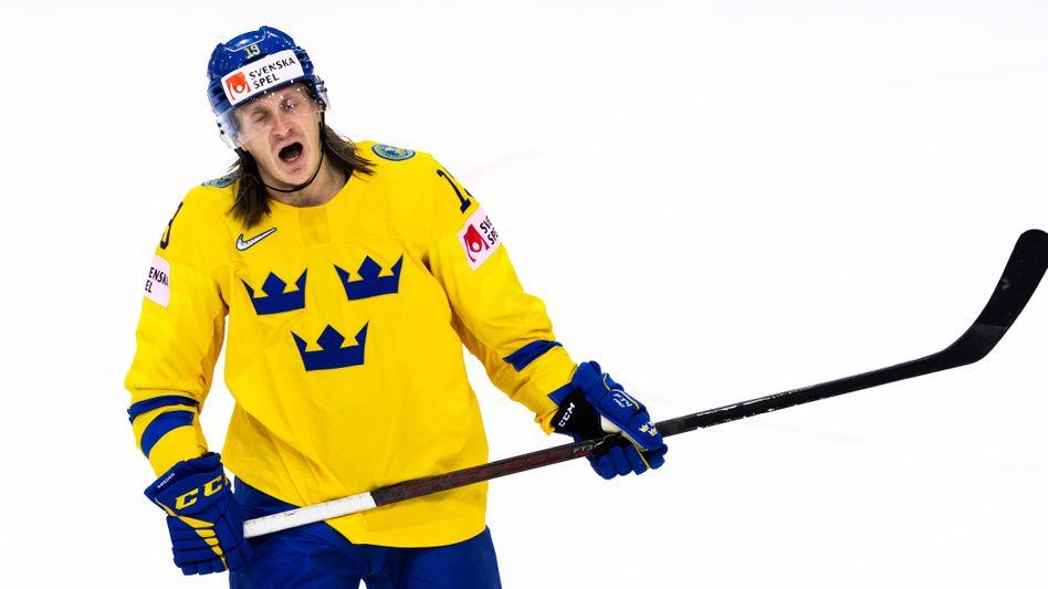 Schwedens Marcus Sörensen im Spiel gegen Russland