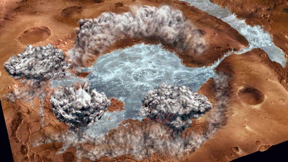 Urzeit-Flut: Einstige Mars-Fluten könnten in Gestein stecken