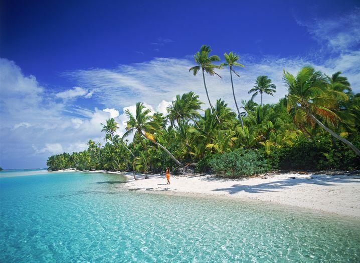 Strand auf den Cook-Inseln: Wie schnell steigt das Meer?