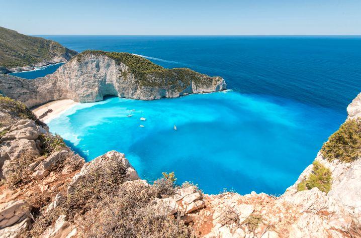 Ab 1. Juli auch für deutsche Badegäste wieder zugänglich? Bucht in Griechenland