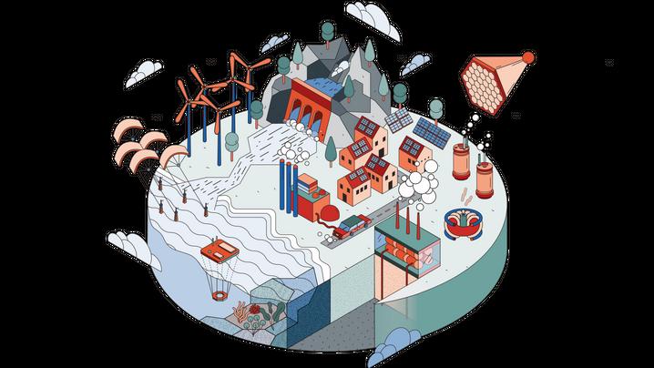 Wie ließe sich der Strombedarf der Menschheit aus klimaneutralen Quellen stillen? Hier sind die Erfolg versprechendsten Ansätze.