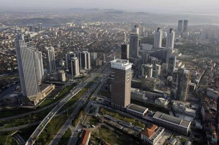 The Istanbul banking quarter of Levent