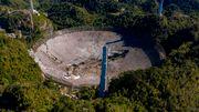Legendäres Arecibo-Teleskopist kollabiert