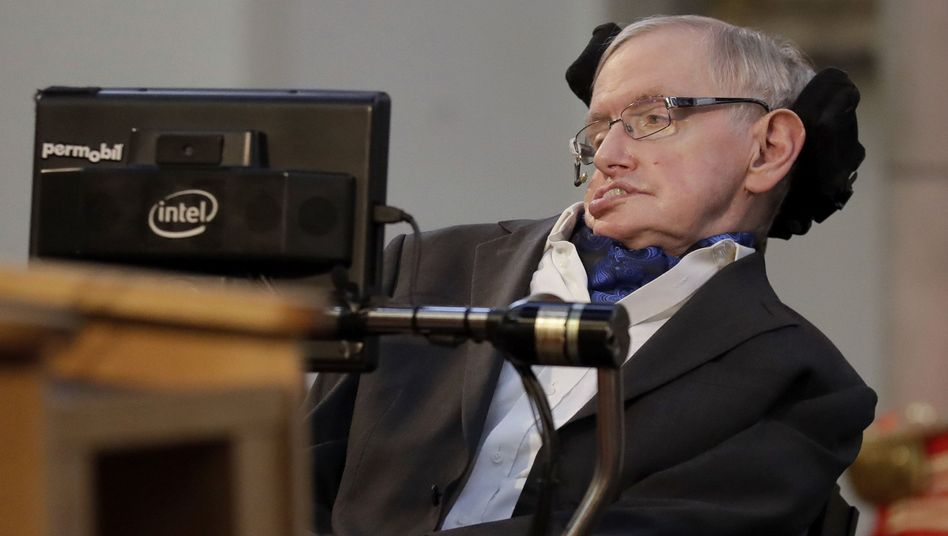 Hawking im Oktober 2017