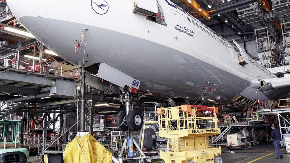 Airbus-A340-Jet der Lufthansa