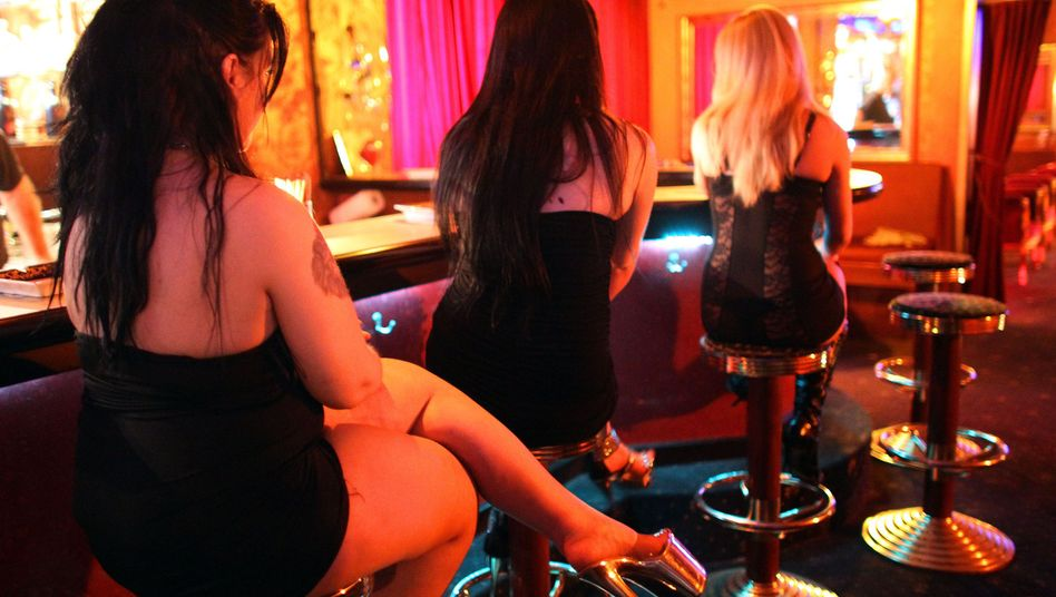 Prostitutes at a bordello in Cologne, Germany.