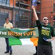 Demonstrators want Ireland's voice to be heard.