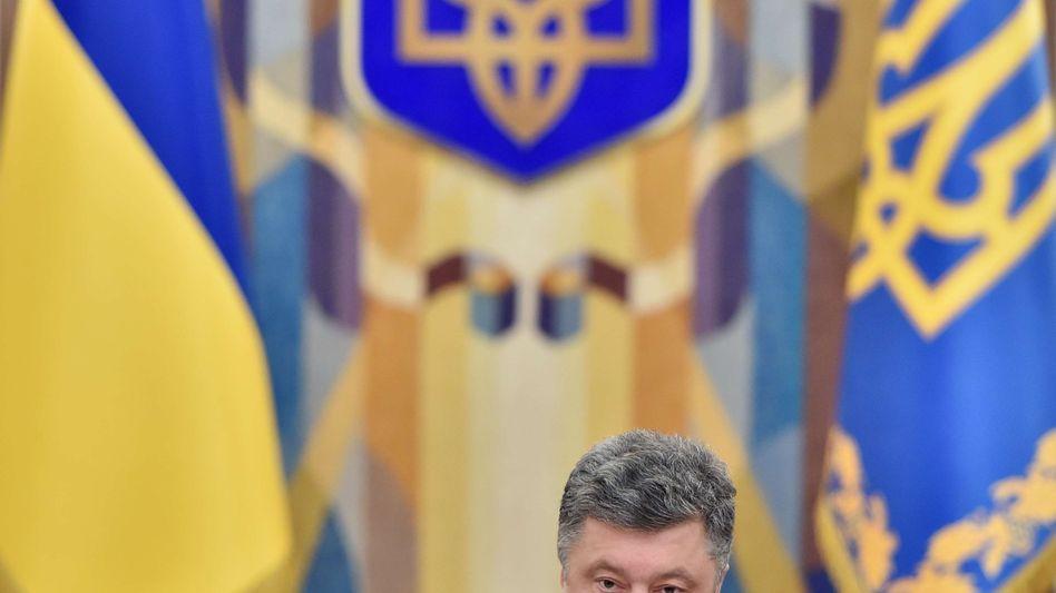 """Ukrainischer Staatschef Poroschenko: """"Bei offener Grenze einen Waffenstillstand auszurufen, wäre unverantwortlich"""""""