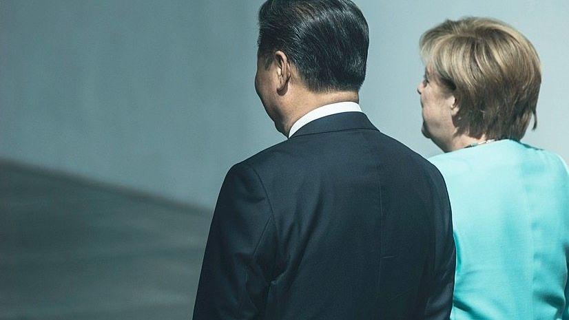 Staatschef Xi, Kanzlerin Merkel