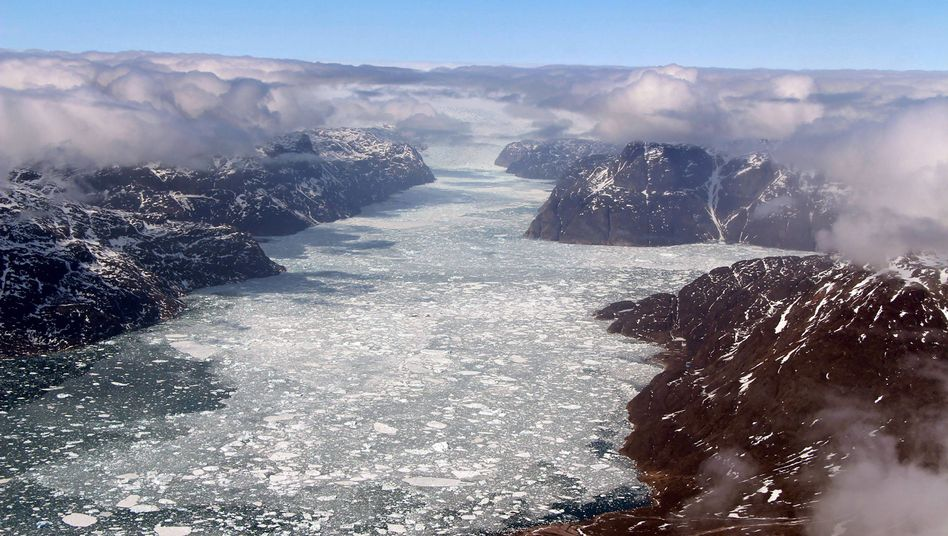 Schmelzender Gletscher in Grönland