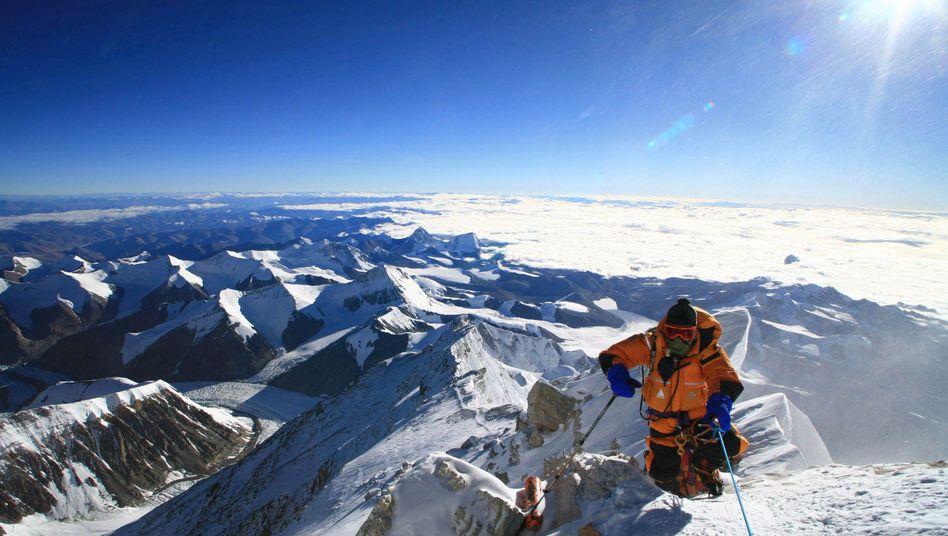 Katsusuke Yanagisawa am Gipfel des Mount Everest: Konzentration erschwert