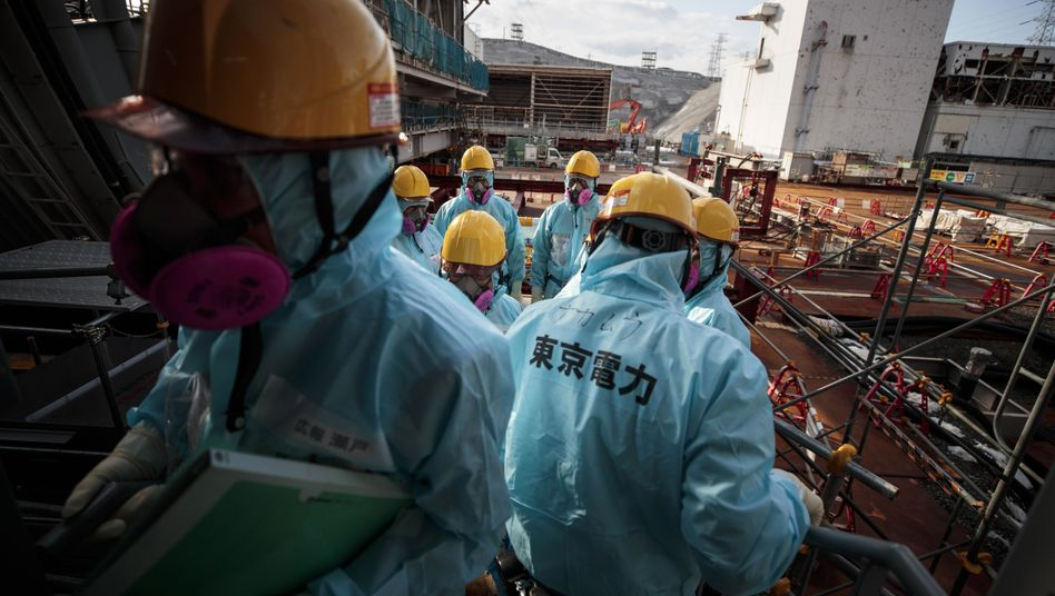 Tepco-Arbeiter in Fukushima