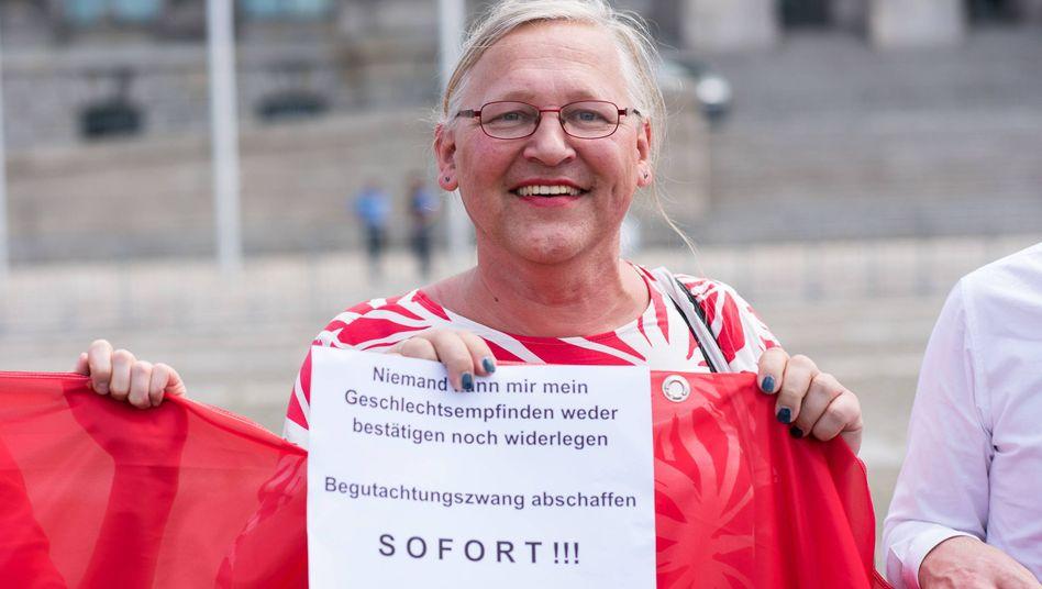 Protest vor dem Bundestag