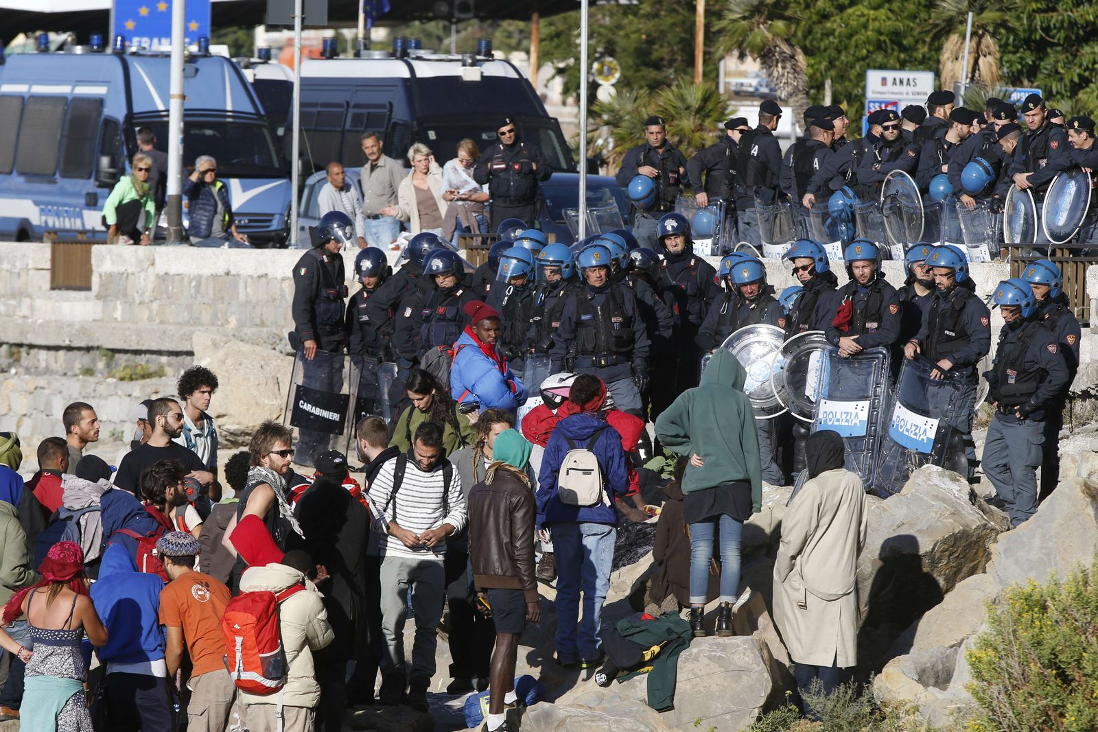 Flüchtlinge in Ventimiglia