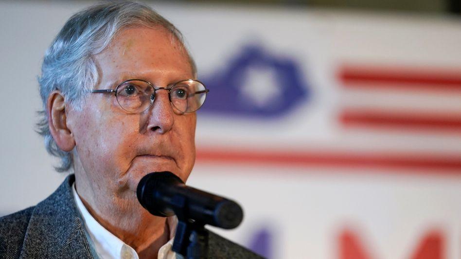 Mitch McConnell: Der bisherige Mehrheitsführer der Republikaner hat seinen Sitz im Senat verteidigt