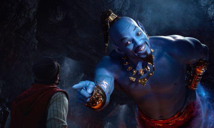 Will Smith spielt den allmächtigen Draufgänger Dschinni, der dem Inhaber der Wunderlampe drei Wünsche erfüllen muss