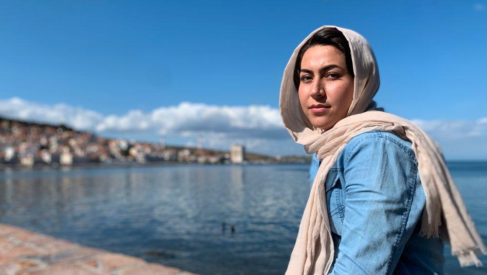 Safiya Mohammadi, eine Asylsuchende auf Lesbos