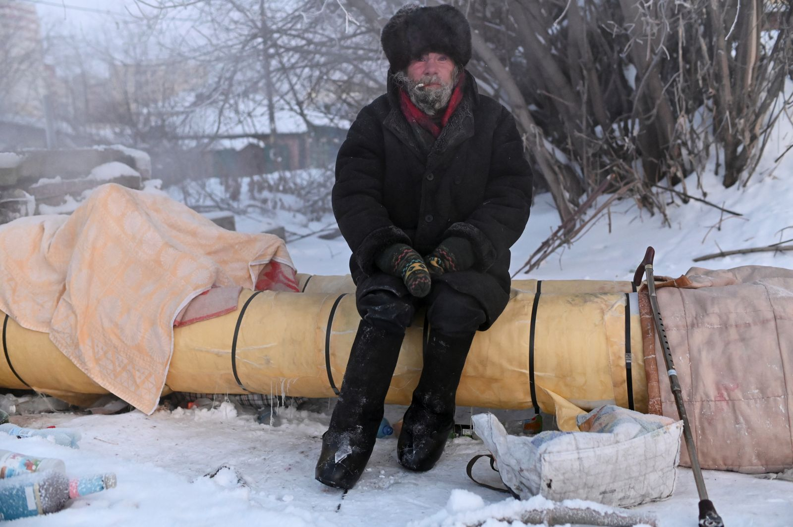 The Wider Image: How to survive a Siberian winter with no home