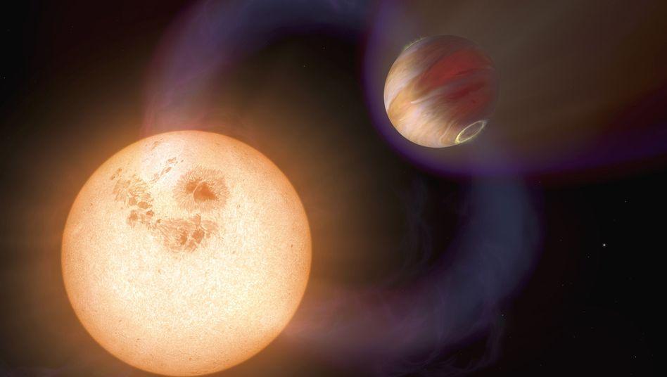 """Exoplanet (grafische Darstellung): """"Wir müssten ausgesprochenes Glück haben"""""""