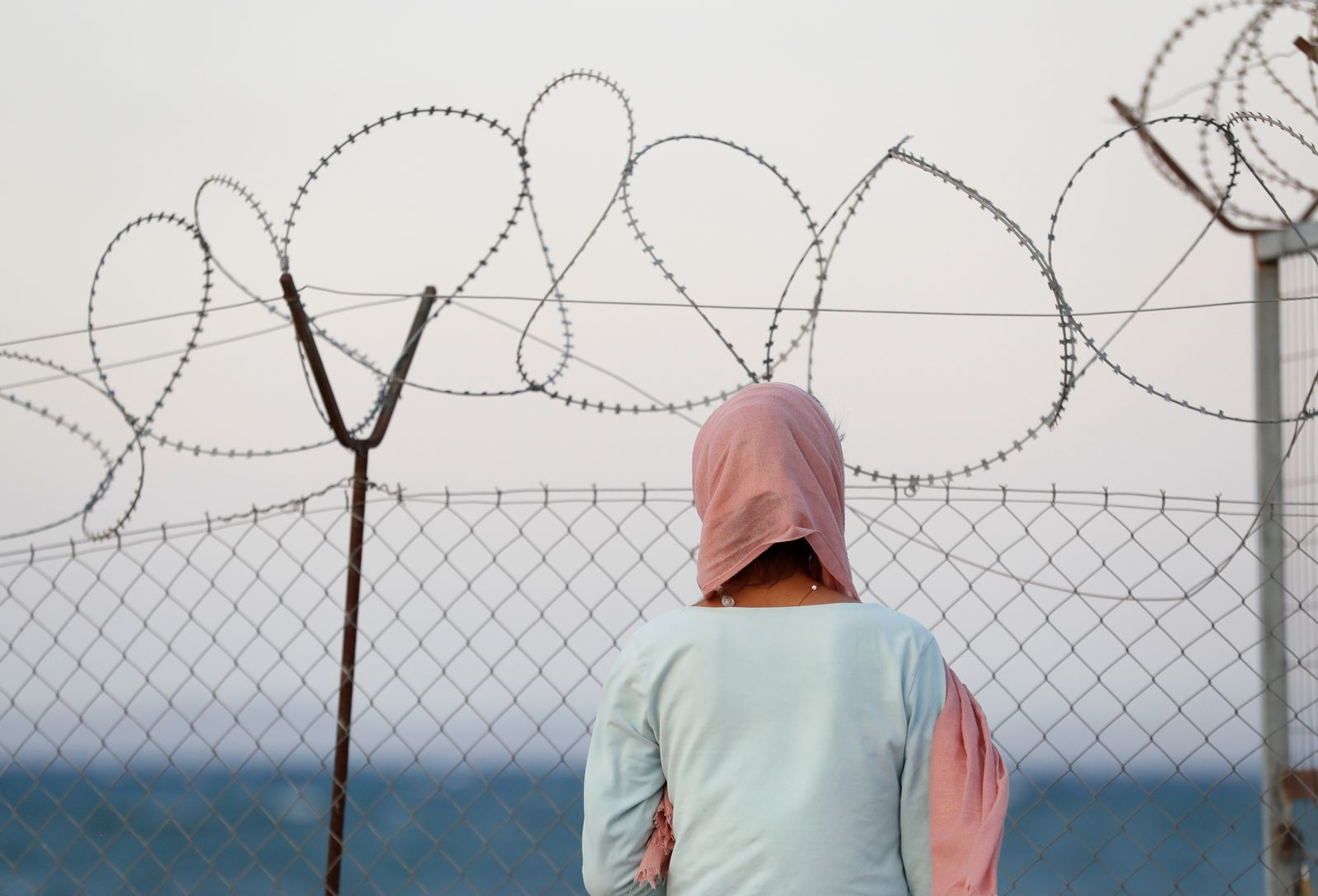 New temporary camp for migrants and refugees, on the island of Lesbos