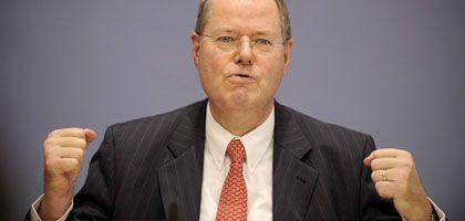 Bundesfinanzminister Steinbrück: Die Krise hat einen Gewinner - die Politik