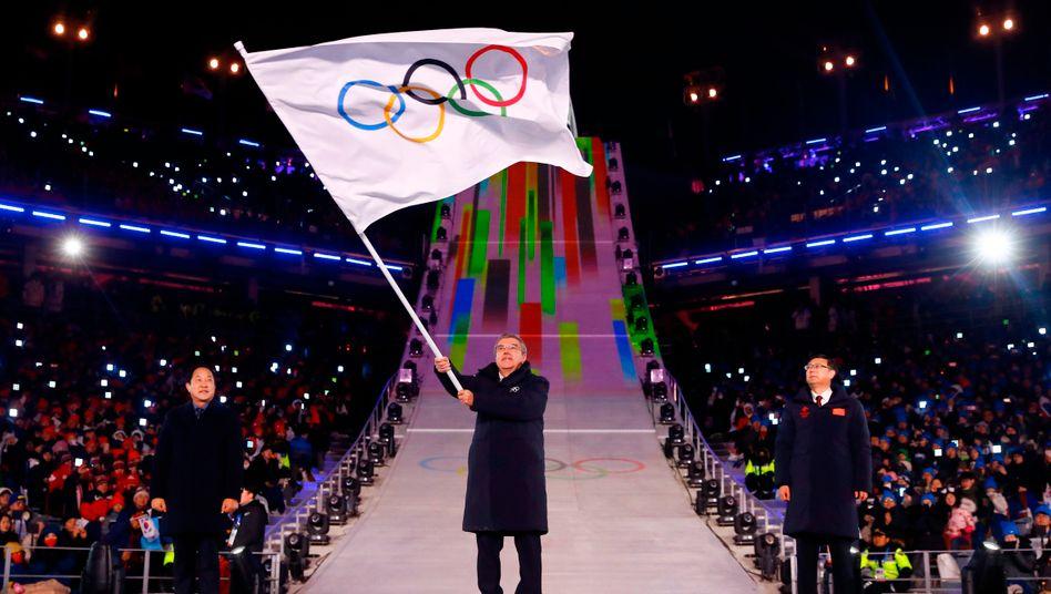 Thomas Bach im Jahr 2018 in Pyeongchang