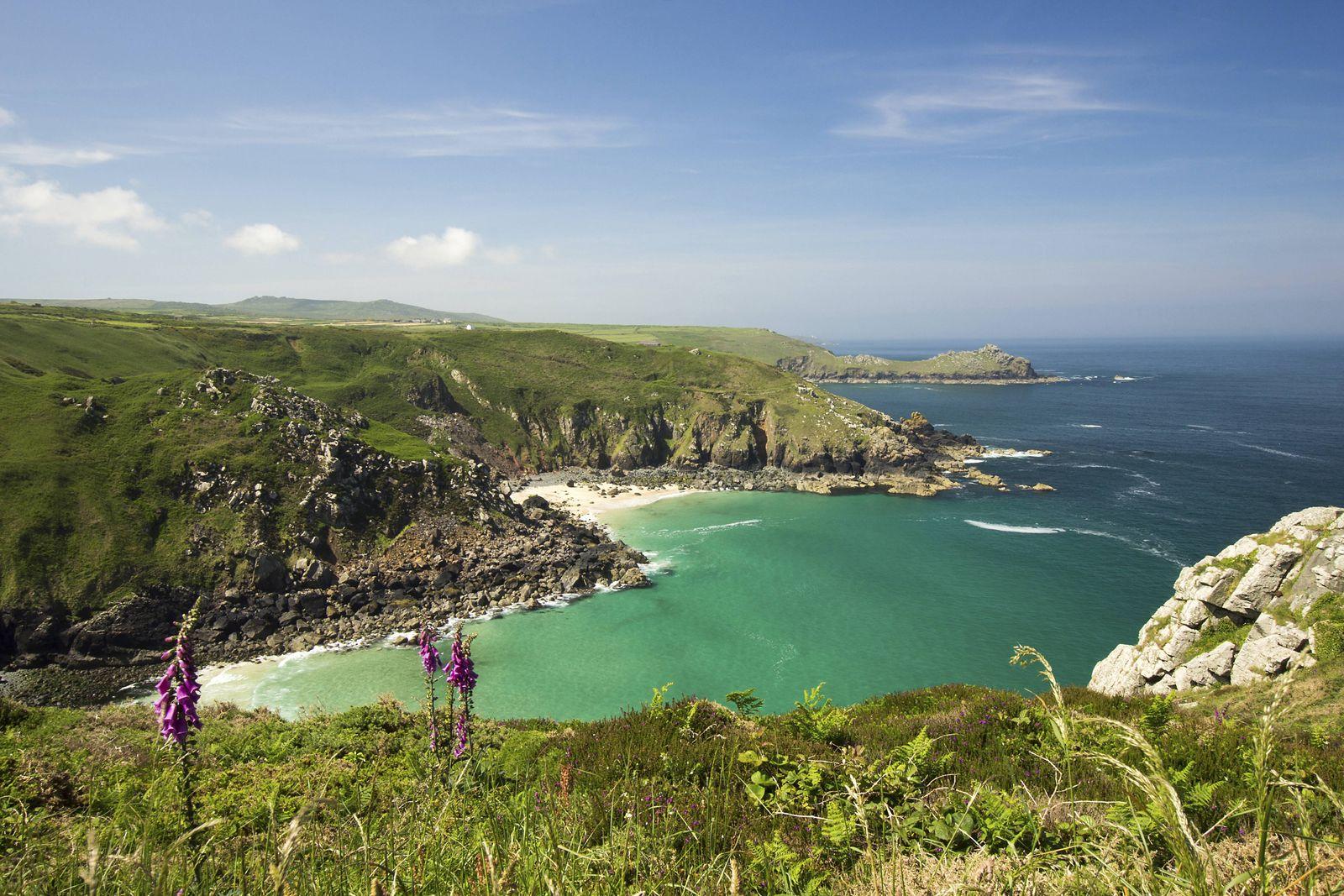 EINMALIGE VERWENDUNG Cornwall/ Reiseziele/ Februar