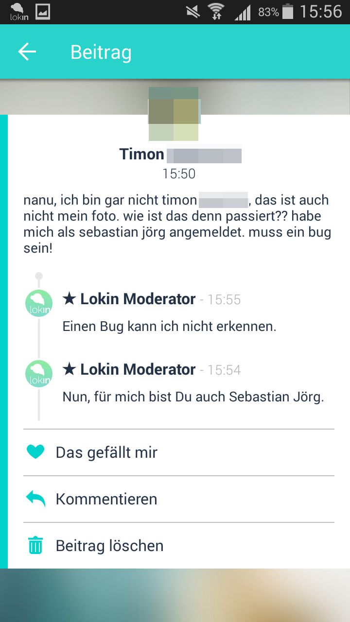 NUR ALS ZITAT Screenshot Lokin